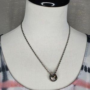 Lia Sophia Expedition Silver and Stone Necklace